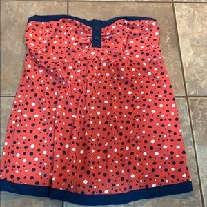 💐5/25 Maurices tube top blue red white blouse